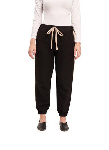Mizalle Mızalle Basic Bağcıklı Salaş Pantolon  Bej